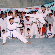 Demonstrating techniques on India trip 2006