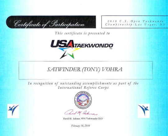 USA appointment 2010